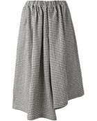 Comme des Garçons Gingham Asymmetric Skirt - Lyst