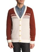 Selected Blue And Burgundy Cardigan Carver - Lyst