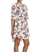 Mauro Grifoni Phoenix Printed Silk 3/4 Sleeve Dress - Lyst