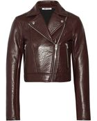 T By Alexander Wang Textured-Leather Biker Jacket - Lyst