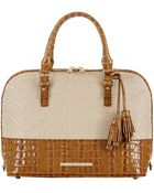 Brahmin Tasseled Satchel Handbag - Lyst
