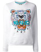 Kenzo Embroidered Tiger Sweatshirt - Lyst