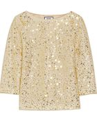 Moschino Layered Embellished Crepe And Tulle Top - Lyst