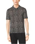 Michael Kors Printed Linen And Cotton Polo Shirt - Lyst