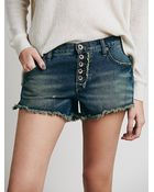 Free People Womens Runaway Slouch Cut Off - Lyst