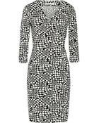 Diane von Furstenberg Julian Printed Stretch-Jersey Wrap Dress - Lyst