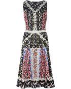Peter Pilotto Nico Printed Silk Dress - Lyst