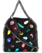 Stella McCartney Mini Appliqué Detail 'Falabella' Tote - Lyst