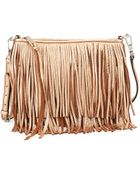 Rebecca Minkoff Finn Metallic Fringe Crossbody Bag - Lyst