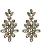 Oscar de la Renta Swarovski Crystal Navette Drop Earrings - Lyst