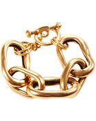 Oscar de la Renta Russian Link Gold Bracelet - Lyst