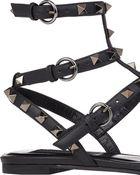 Valentino Rockstud Flat Sandals - Lyst