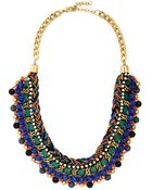 Zad Fashion Inc. Bead Still My Heart Necklace In Blue - Lyst