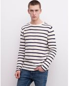 Pull&Bear Buttoned Jumper With A Structured Nautical-Stripe Weave - Lyst