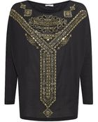 Emilio Pucci Embellished Batwing Top - Lyst