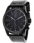 Luminox Mens Atacama Chronograph Black Genuine Leather and Dial - Lyst