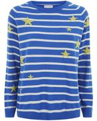 Chinti & Parker Star Stripe Cashmere Sweater - Lyst