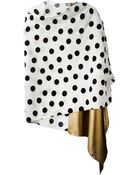 Forte Forte Polka Dot Panelled Scarf - Lyst