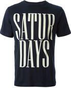 Saturdays Surf Nyc Slogan Print Tshirt - Lyst