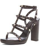 Valentino Noir Rockstud Leather Gladiator Heels T95 - Lyst