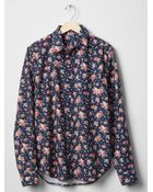 Gap Floral Print Oxford Shirt - Lyst