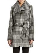 Jessica Simpson Belted Zip Front Coat - Lyst
