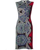 Lanvin Paisley Print Dress - Lyst
