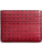 Coach Card Case In Printed Crossgrain Leather - Lyst