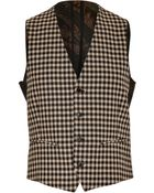 Etro Check Print Wool Vest - Lyst