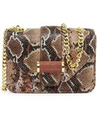 Ivanka Trump Snake-Embossed Small Classic Shoulder Bag - Lyst