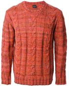 Paul Smith Cable Knit Sweater - Lyst