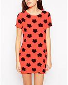 AX Paris Daisy Print Shift Dress - Lyst