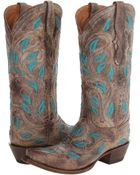 Lucchese boots knee boots - Lyst