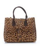 Prada Leopard Print Calf Hair 'City' Double Handbag - Lyst