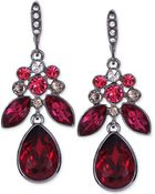 Givenchy Light Hematite-Tone Red Large Drop Earrings - Lyst