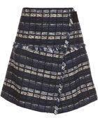 Proenza Schouler Tweed Wrap Front Skirt - Lyst
