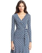 Diane von Furstenberg Dvf Behati Silk Jersey Wrap Top - Lyst