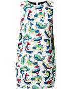 Kenzo Fish Print Shift Dress - Lyst