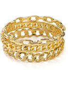 Kenneth Jay Lane Chain Link Bangle - Lyst