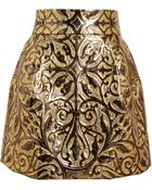 Dolce & Gabbana Metallic Embossed Brocade Skirt - Lyst