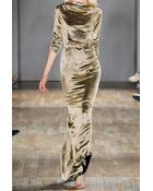 Jenny Packham Draped Silk-Blend Lamé Gown - Lyst