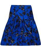 Oscar de la Renta Floral-Print Silk and Cotton-blend Skirt - Lyst