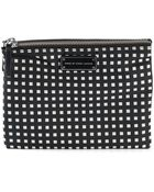 Marc By Marc Jacobs Double Zip Check Cosmetic Bag - Lyst