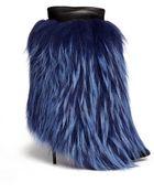 Giuseppe Zanotti 'Yvette' Fur Leather Trim Suede Stiletto Boots - Lyst