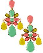 Oscar de la Renta Faceted Chandelier Clipon Earrings Multicolor - Lyst
