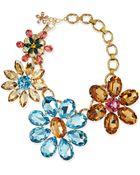 Dolce & Gabbana Mega Flower Jewel Necklace - Multi Colors (One Size) - Lyst
