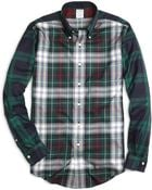 Brooks Brothers Non-iron Slim Fit Fun Plaid Sport Shirt - Lyst