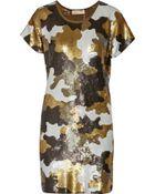 MICHAEL Michael Kors Sequined Jersey Mini Dress - Lyst