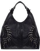 Roberto Cavalli Studded Slouchy Hobo Bag - For Women - Lyst