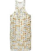 Emilio Pucci Open Circles Sequined Dress - Lyst